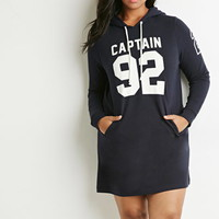 Captain Graphic Hooded Dress