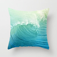 Catch the Wave Throw Pillow by Lisa Argyropoulos | Society6
