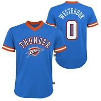Youth Russell Westbrook Oklahoma City Thunder V-Neck Replica Jersey