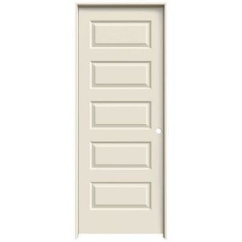JELD-WEN Smooth 5-Panel Primed Molded Prehung Interior Door-THDJW137400041 at The Home Depot