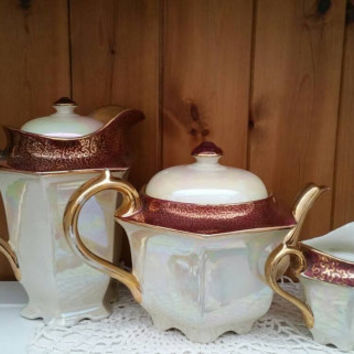SADLER Teapot/Coffee or hot water pot/milk jug /creamer/vintage lustreware/Art Deco vintage pottery/1940s