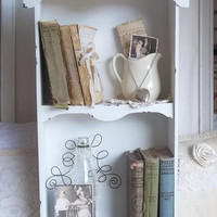 Vintage INspired Chic Book Shelf by cottagehomedecor on Etsy