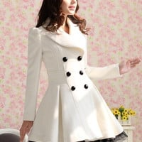 New fashion Slim Casual Women's Wool cashmere Coats double breasted trenchcoat = 1956922500