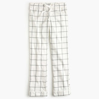 J.Crew Womens Windowpane Plaid Flannel Pajama Pant
