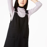 Monki | Dresses | Rounded neck dungaree dress