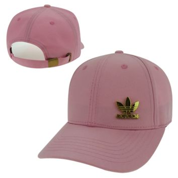 Cute Pink Adidas Logo Embroidered Outdoor Baseball Cap
