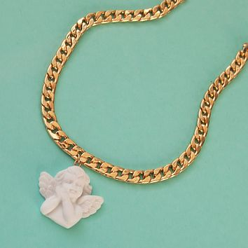 Angel Baby Face Necklace