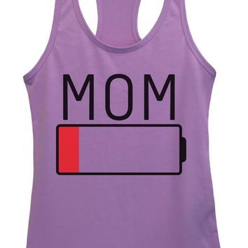 Womens Mom Grapahic Design Fitted Tank Top