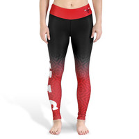 Chicago Bulls Womens Official NBA Gradient Print Leggings