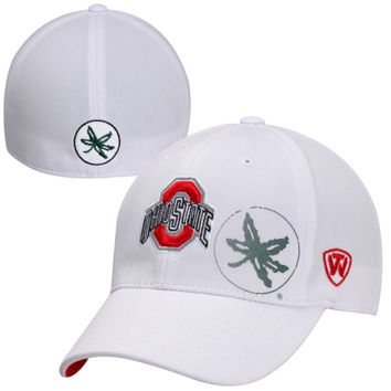 Top of the World Ohio State Buckeyes Hi Rize One-Fit Flex Hat - White