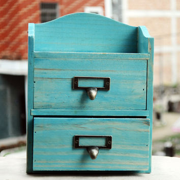 Home Decor Wooden Weathered Storage Box Drawer [6282880646]