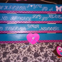 Whisper I Love You To A Butterfly small hanging sign