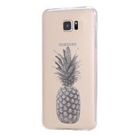 Pineapple Fruit Samsung Galaxy S6 Edge Clear Case Galaxy S6 Transparent Case Samsung S5 Hard Cover C0006