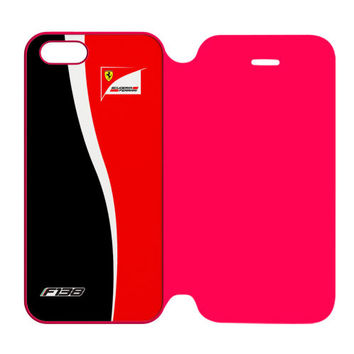 FERNANDO ALONSO F1 FORMULA SCUDERIA FERRARI TEAM iPhone 5 | 5S Flip Case Cover