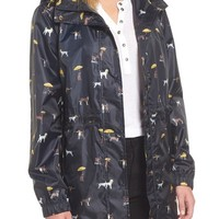 Joules Right as Rain Packable Print Hooded Raincoat | Nordstrom