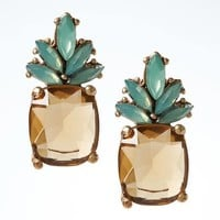 Pineapple Jewel Stud Earring | Banana Republic