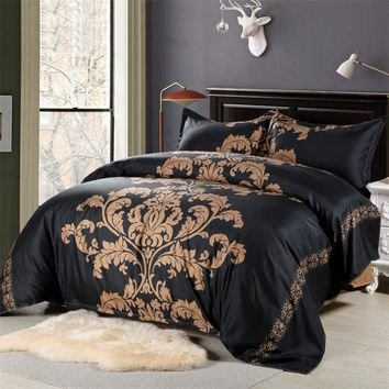 Red/Black/White Bedding Europe Style King Size Duvet Cover Edredon Bed Linen China Bedding Kit