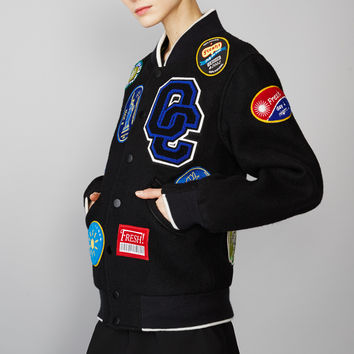Opening Ceremony Fruit Sticker Varsity Jacket - WOMEN - Outerwear - Opening Ceremony