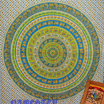 Elephant Mandala Hippie Tapetsry,Dorm Tapestry,Bohemian Tapestry,elephant wall Art ,Boho tapestry,hippie tapestry,indian Ethnic Decor art
