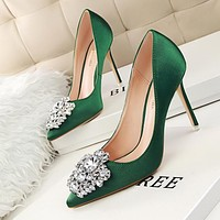Women's Fashion Ultra Flash Diamond Wedding Shoes Shoes High-Heeled Shoes White Nightclub Crystal Shoe Single Shoes Bride Shoes [9521604877]