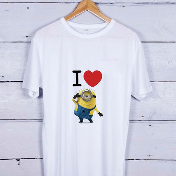 I Love Minions Tshirt T-shirt Tees Tee Men Women Unisex Adults