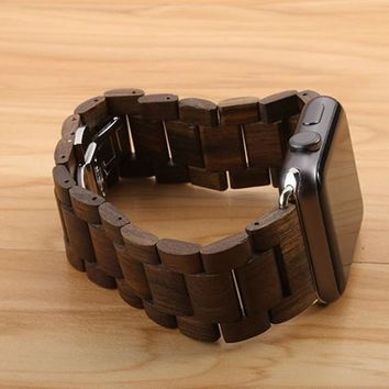 Protective Wooden Straps for Apple Watch