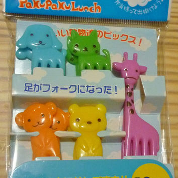 Cute Animal Cupcake Topper & Food Decoration Picks/Forks-  Set B Bento
