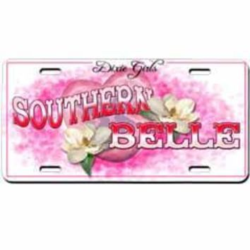 Southern Belle Embossed Aluminum Car Tag By Dixie Outfitters®