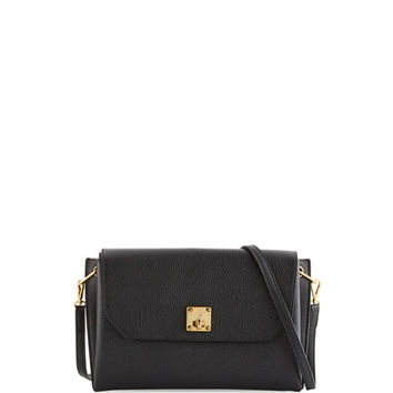 MCM Milla Small Leather Clutch Bag, Black