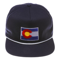 Colorado is 4 Shreddrz Retro Navy Snapback Hat