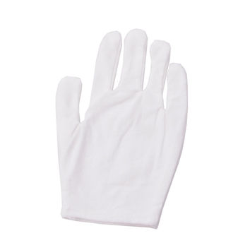 12 Pairs White Inspection Cotton Lisle Work Gloves Coin Jewelry Lightweight New -Y107