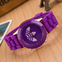 Trendy Purple Silicone Watch