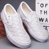 VANS Slip-On Canvas Old Skool Print Flats Sneakers Sport Shoes