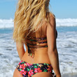 Santa Cruz Strappy Side Bikini Bottom - Island Garden Print