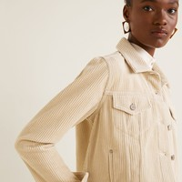 Buttoned corduroy jacket - Women | Mango USA