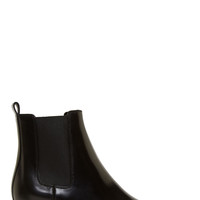 Saint Laurent Black Leather Wyatt Winklepicker Boots