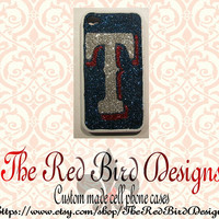 Glitter Sparkly Texas Rangers iPhone 4/4S OR 5 Cell Phone Case