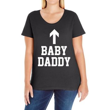 baby daddy funny new Ladies Curvy T-Shirt