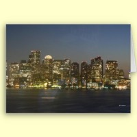 Boston Night--blank card from Zazzle.com