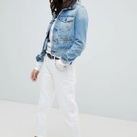 G-Star 3301 Mid Rise Crop Boyfriend Jean at asos.com