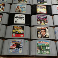 24 Nintendo 64 video games console system game - goldeneye south park pokemon