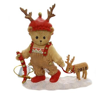 Cherished Teddies RYAN 2018 ANNUAL FIGURINE Polyresin Reindeer 132075