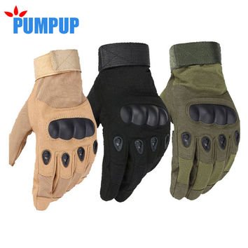 Military Tactical Gloves Antiskid Outdoor Cover Finger Mittens Winter Thermal Men Fighting Leather Blackhawk