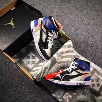 Best Online Sale The 10 OFF WHITE x Fragment x Nike Air Jordan 1 Retro High 84c152f88