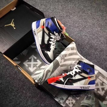 Best Online Sale The 10 OFF WHITE x Fragment x Nike Air Jordan 1 Retro High OG 10X AJ1 Basketball Shoes Buffalo Sneaker AA3834-101