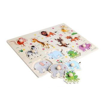 3D Puzzle Baby Wooden Animal Jigsaw Playing Games