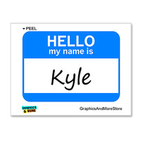 Kyle Hello My Name Is Sticker