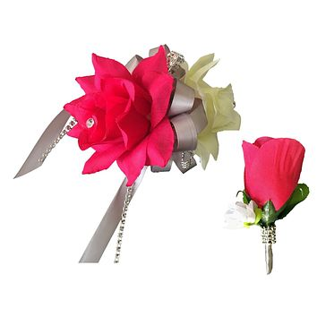 Set:Wrist corsage and Boutonniere