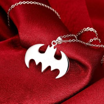 Summer Style Batman Silver Necklace Best Gift For Friends Steampunk Jewelry