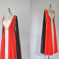1960s Evening Gown /  60s Chiffon Grecian by FemaleHysteria
